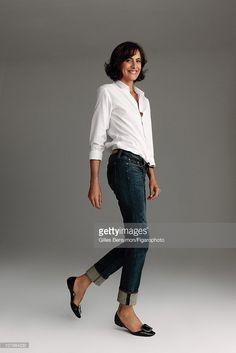 Model Ines de la Fressange is photographed for Madame Figaro on September 7, 2010 in Paris, France. Published image. Figaro
