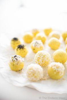 Coconut Lemon Energy Balls