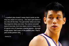 NBA Jeremy Lin's quote from Linsanity. About why failure and tough times sometimes make you better.