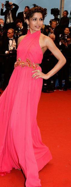 Freida Pinto in Gucci.  Cannes Film Festival