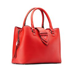 Borsa a mano in similpelle bata, rosso, 961-5216 - 13