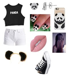 """""""PANDA """" by morgs-soccer on Polyvore featuring Barbour International, Casetify, Converse and Lime Crime"""
