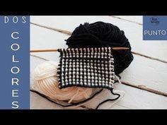 Punto en dos colores: para tejer mantas y ropa de niños en dos agujas-Soy Woolly - YouTube
