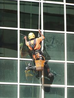 On Every Level - Nothing beats sparkling clean windows! When the job spans multiple stories, it's time to call in a professional. Using ropes, safety equipment and a little knack, they make even the highest panes shine. Green Cleaning Services, Commercial Cleaning Services, Cleaning Companies, Janitorial Cleaning Services, Washing Windows, Best Commercials, Sparkling Clean, Window Cleaner, Office Cleaning