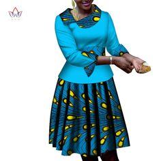 New Bazin Riche African Ruffles Collar Dresses for Women Dashiki Print Pearls Dresses Vestidos Women African Clothing - AliExpress Best African Dresses, Latest African Fashion Dresses, African Print Dresses, African Print Fashion, Africa Fashion, African Fashion Ankara, African Attire, African Style, African Prints