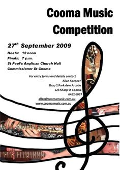 Example of poster for a concert of classic music !