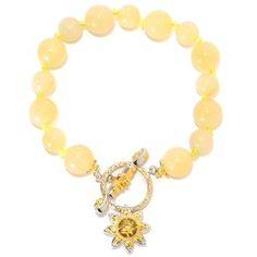 Shop for Michael Valitutti Palladium Silver Aragonite Bead, Citrine and Orange Sapphire Flower Charm Toggle Bracelet . Get free delivery at Overstock.com - Your Online Jewelry Destination! Get 5% in rewards with Club O! - 20421879