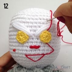 Pennywise the clown Amigurumi Pennywise The Clown, Brick Colors, Sport Weight Yarn, Magic Ring, Wonderful Picture, Crochet Art, Sewing Basics, Half Double Crochet, Yarn Colors