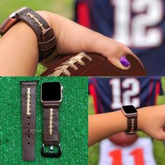 Football Apple iwatch All series Band (Genuine Leather