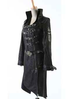 Steam Punk Military Trench Coat, preacher