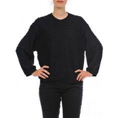 MAGLIA DONNA M2 BLACK MAGLIA DONNA BOBOUTIC #caneppele #trento #women #sweater #readytowear #grey #maglia #cappuccio #grigia #fw2017 #autunnoinverno2017
