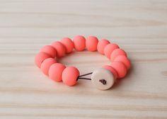 Handmade Polymer Clay Bead Bracelet Stretch Cord by enaandalbert