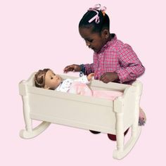Guidecraft Doll Cradle - White