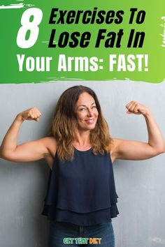 Lose fat in the arms quickly is not an easy task! But if this problem interferes with your dress and activity choices, it might be time to change and find a solution to make your arms firmer and more beautiful. Even if it's hard to get rid of arms fat alone, you can reduce body fat to make your arms slimmer. So let's find out through the article below.  #getthatdiet #losearmsfat #loseweight #weightlossguide #burnfat #healthy Best Weight Loss Plan, Weight Loss For Women, Fast Weight Loss, Healthy Weight Loss, How To Lose Weight Fast, Lose Fat Workout, Flat Belly Workout, Fat Burning Cardio, Reduce Body Fat