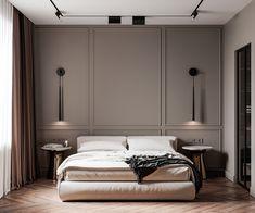 Modern Classic projects | Фотографии, видео, логотипы, иллюстрации и брендинг в Behance Bedroom Bed Design, Modern Bedroom Design, Home Room Design, Home Decor Bedroom, Home Interior Design, Modern Luxury Bedroom, Modern Classic Bedroom, Modern Classic Interior, Classic Bed Room