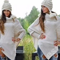 "Classy Asymmetric Poncho Sweater  Stay warm and cozy in our classy  asymmetric poncho sweater  with wide a turtleneck collar and long sleeves. This detailed ladies""poncho sweater"" is stylish and trendy and make  the perfect gifts for women, expecting  mom or Christmas gift for her or self.   ... Live Life Love, Ladies Poncho, Warm And Cozy, Stay Warm, Poncho Sweater, Christmas Gifts For Her, Clubwear, Turtleneck, Gifts For Women"