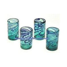 Mexican Bubble Glass - Mexican Glassware Pitcher Sets and Glasses