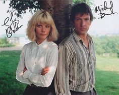 Glynis Barber & Michael Brandon HAND SIGNED 8x10 Photo, Dempsey and Makepeace