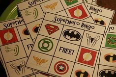 Super hero bingo @susan lopez