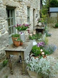 50 Amazing Ideas French Country Garden Decor 50 Amazing Ideas French Country Garden Decor In modern cities, it is virtually impossible to take a seat in the house wi. Garden Cottage, Diy Garden, Garden Care, Dream Garden, Garden Projects, Potted Garden, Potted Plants, Garden Pots, Farmhouse Garden