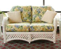 Blue Outdoor Loveseat Cushions | Wicker Loveseat Cushions