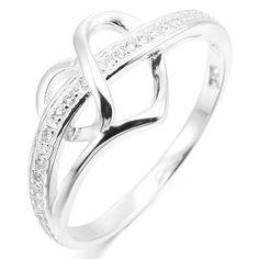 Infinity et coeurs anneau Véritable Argent Sterling 925 Oxydé face hauteur 5 mm