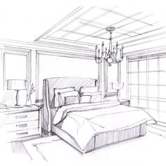bleistift Ideas House Drawing Sketches Pencil For 2019 Interior Design Renderings, Drawing Interior, Interior Rendering, Interior Sketch, Interior Architecture, Architecture Drawings, House Design Drawing, House Drawing, Drawing Furniture