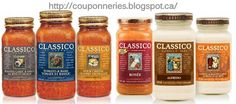 Coupons et Circulaires: 1$ Sauces CLASSICO