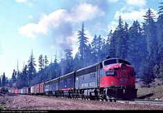 RailPictures.Net Photo: SP 6383 Southern Pacific Railroad EMD F7(A) at McCredie Springs, Oregon by Steve Patterson