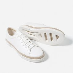 Image 3 of BRAIDED SOLE SNEAKERS from Zara
