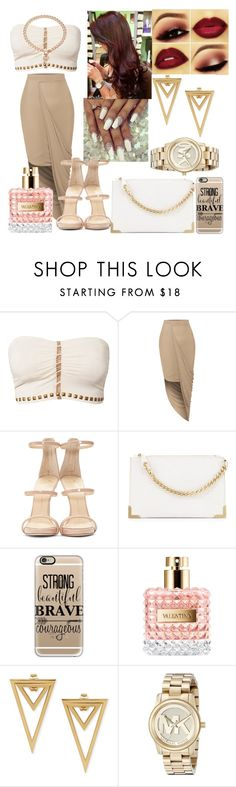 """""""Miss Independent #2"""" by viviananeal ❤ liked on Polyvore featuring F.A.V, LE3NO, Giuseppe Zanotti, Foley + Corinna, Casetify, Valentino, Michael Kors and Juicy Couture"""