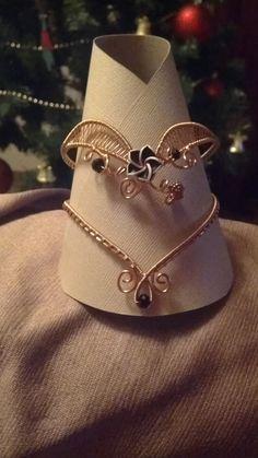 Wire wrapped copper bracelet!