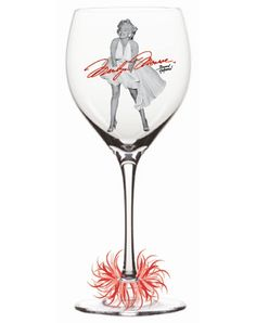 Marilyn wine glass