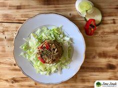 Tempeh se zeleninou a bulgurem Tempeh, Tahini, Tacos, Fit, Ethnic Recipes, Bulgur