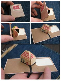 Wooden pop up card Home by HelloHinoki on Etsy, $25.00