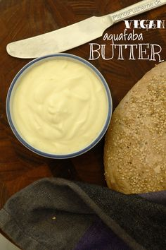 NINA'S VEGAN BUTTER - made with Aquafaba! :D It only takes a few minutes to make this lovely vegan butter that will melt on your tongue. With only cold pressed oils - and aquafaba! Vegan Sauces, Vegan Foods, Aquafaba Recipes, Fromage Vegan, Whole Food Recipes, Cooking Recipes, Vegetarian Recipes, Healthy Recipes, Vegan Cheese