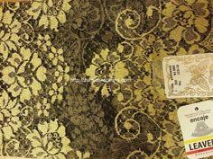MODELO: Encaje MATERIAL: Espanola Tradicional MARCA: Leavers COLOR: ORO FN SIZE: 115x60cm   Encaje unico de Espana conocido por muy suave con efecto de poco peso. Made in Spain