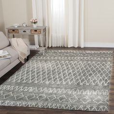 Safavieh Hand-knotted Stone Wash Grey/ Beige Wool Rug (8' x 10') - Free Shipping Today - Overstock.com - 18561486 - Mobile