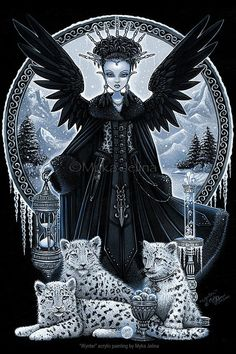 Hey, I found this really awesome Etsy listing at https://www.etsy.com/listing/219708406/gothic-snow-leopard-queen-ice-fairy