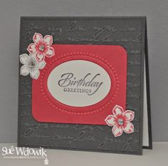 March 2014 Card Class featuring Stampin' Up! Petite Petals Stamp set and Punch