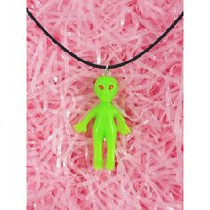 Glow in the Dark Alien Necklace Alien Choker Pastel Goth Rad Alien... (£4.61) ❤ liked on Polyvore featuring jewelry, necklaces, grunge jewelry, pastel goth necklace, goth choker, grunge necklace and glow in the dark necklaces