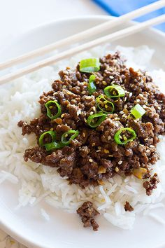 Quick Korean Beef is a family favorite that comes together in less than 25 minutes and tastes better than take out.