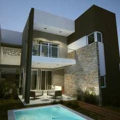 Integración exterior - interior - Juego de Volúmenes : Casas de estilo Moderno por FILIPPIS/DIP - DISEÑO Y CONSTRUCCION