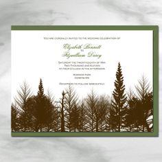 Woodland Forest Green Boho Chic Wedding Wedding Woodsy Wedding, Green Wedding, Wedding Colors, Wedding Styles, Chic Wedding, Wedding Ideas, Wedding Stuff, Tree Wedding Invitations, Wedding Stationary