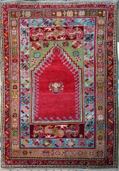 Antique Turkish Mujur Rug