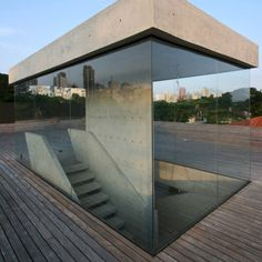 concrete and glass. Very interesting...