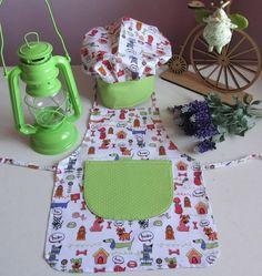 Kit Criança Chef de cozinha. <br>Para Meninos ou Meninas <br>O Kit inclui o Avental + hat cheff (chapeuzinho) <br> <br>OBTENHA RESPOSTAS MAIS RÁPIDAS WHATSAPP 41 98765889