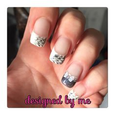French nail design flipflop and stamping