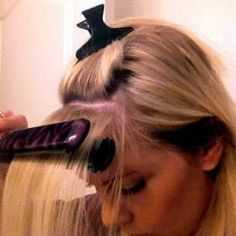 Tutorial on how to tame cowlicks! 29 Hairstyling Hacks Every Girl Should Know