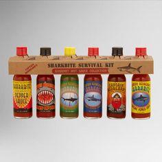 One of my favorite discoveries at WorldMarket.com: Sharkbite Hot Sauce 6-Pack